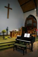 Decoration of many of Margaret's concerts takes time and dedication